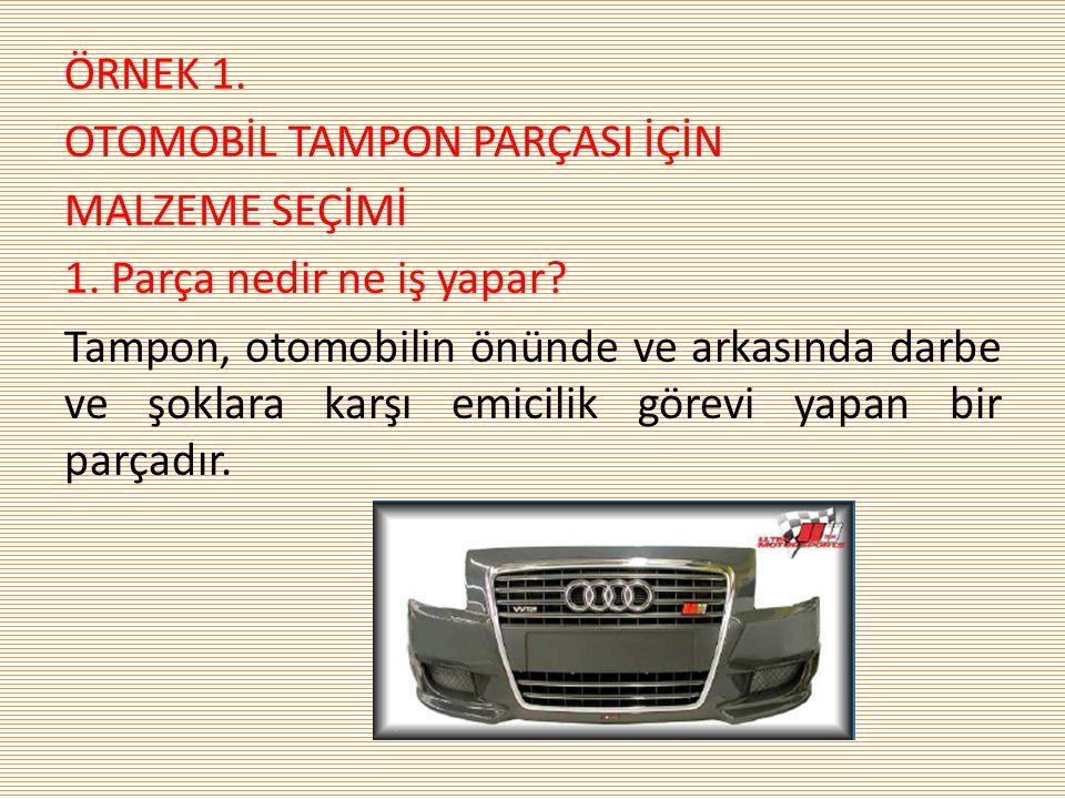 2.Tampon malzemesinden beklenen özellikler nelerdir.