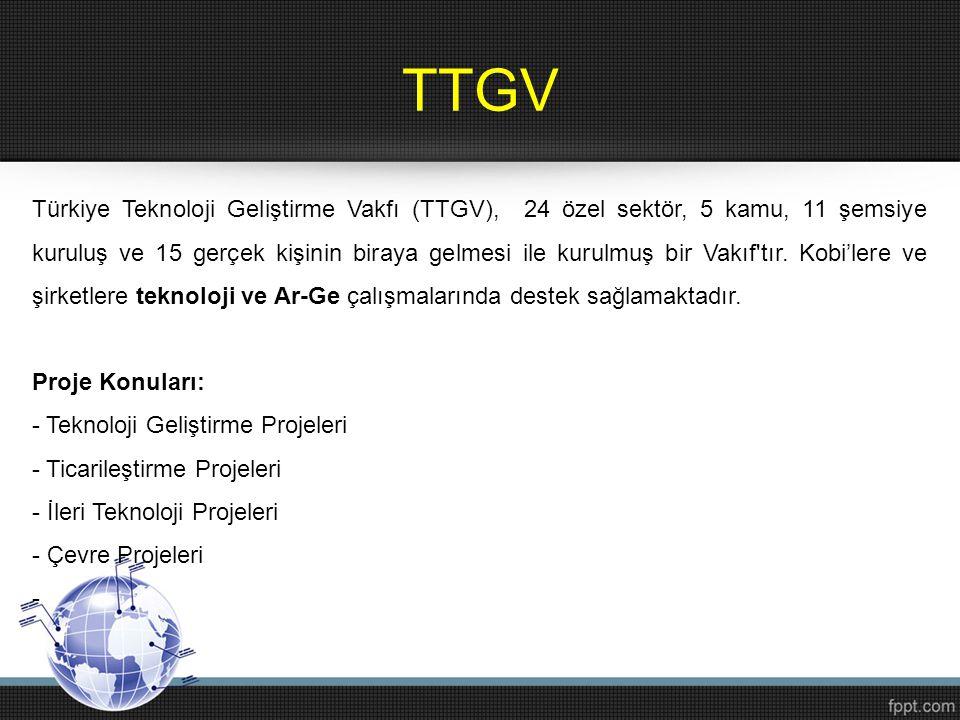 TTGV Türkiye Teknoloji Geliştirme Vakfı (TTGV), 24 özel sektör, 5 kamu, 11 şemsiye kuruluş ve 15 gerçek kişinin biraya gelmesi ile kurulmuş bir Vakıf'