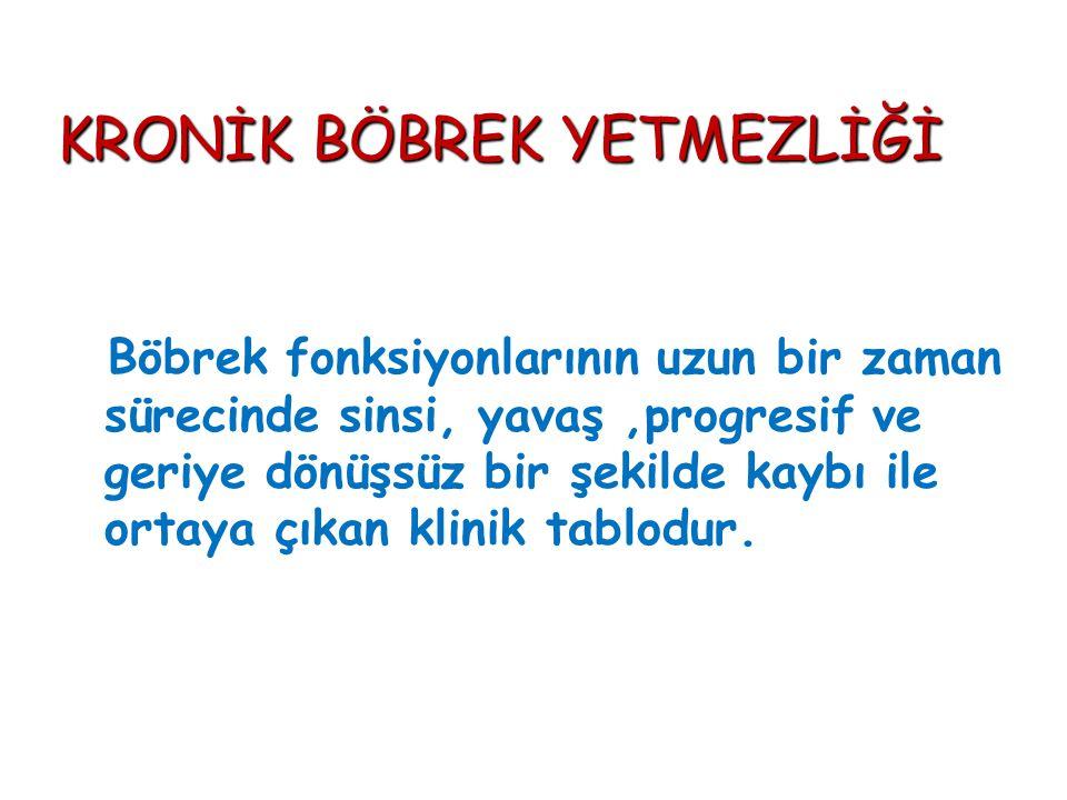 ÜREMİK SEMPTOMLARIN PATOGENEZİ Bricker, Am J Med, 1960; Hörl.