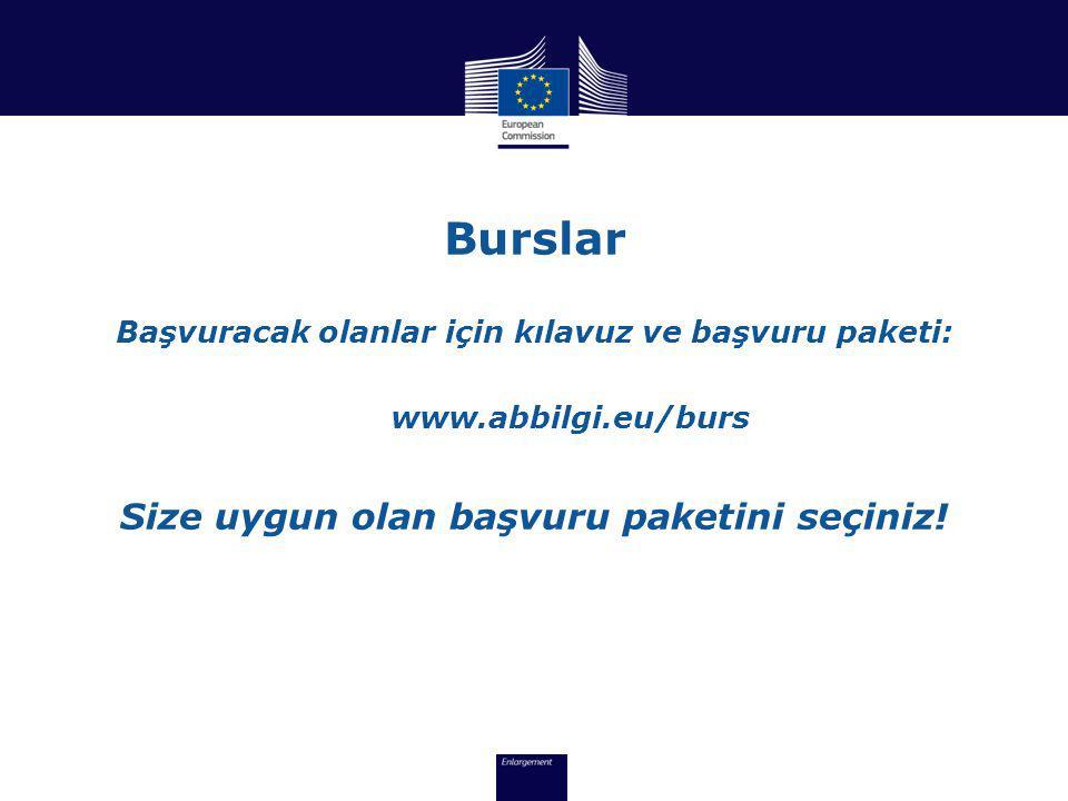 Burslar Başvuracak olanlar için kılavuz ve başvuru paketi: www.abbilgi.eu/burs Size uygun olan başvuru paketini seçiniz!