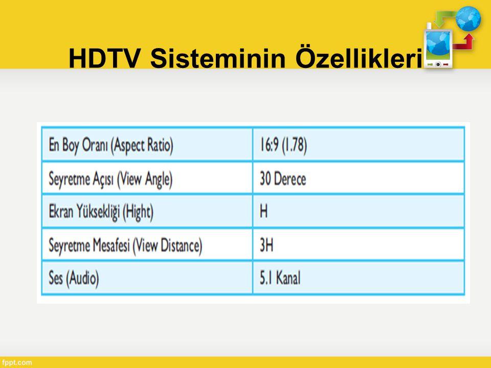 HDTV Sisteminin Özellikleri