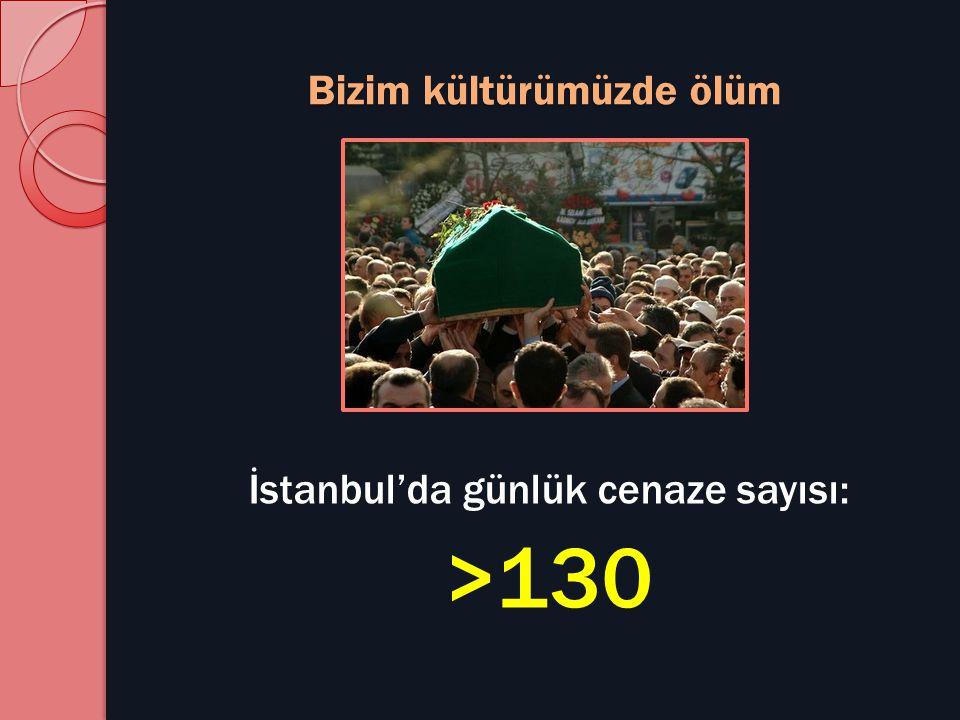 Bizim kültürümüzde ölüm İstanbul'da günlük cenaze sayısı: >130