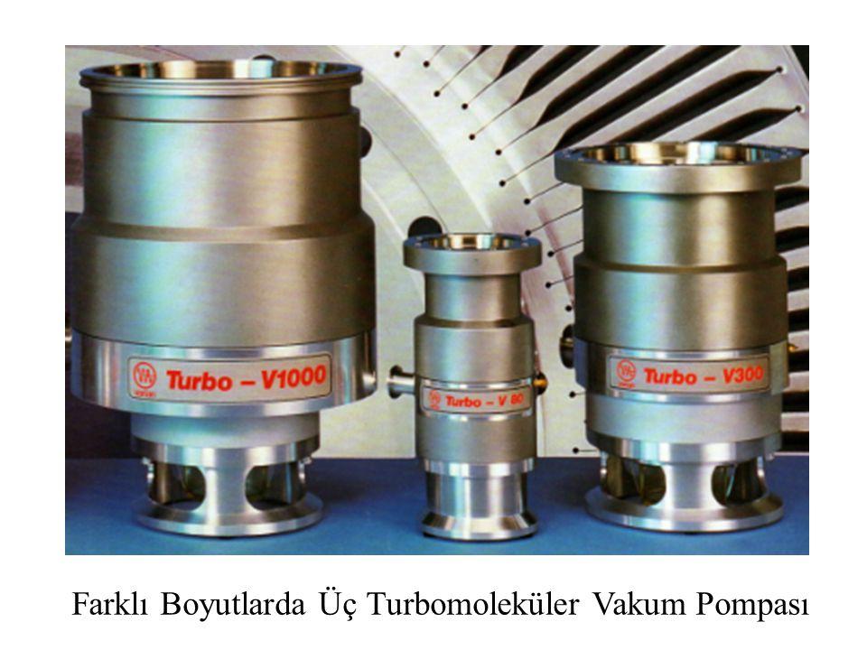 Farklı Boyutlarda Üç Turbomoleküler Vakum Pompası