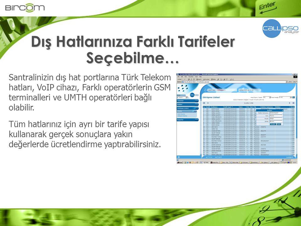Santralinizin dış hat portlarına Türk Telekom hatları, VoIP cihazı, Farklı operatörlerin GSM terminalleri ve UMTH operatörleri bağlı olabilir. Tüm hat