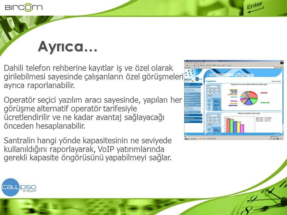 Callipso Analyzer tek bir sunucu bilgisayara kurulur.