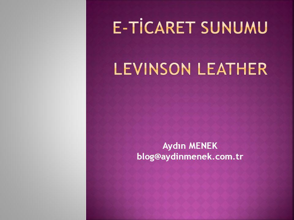 Aydın MENEK blog@aydinmenek.com.tr