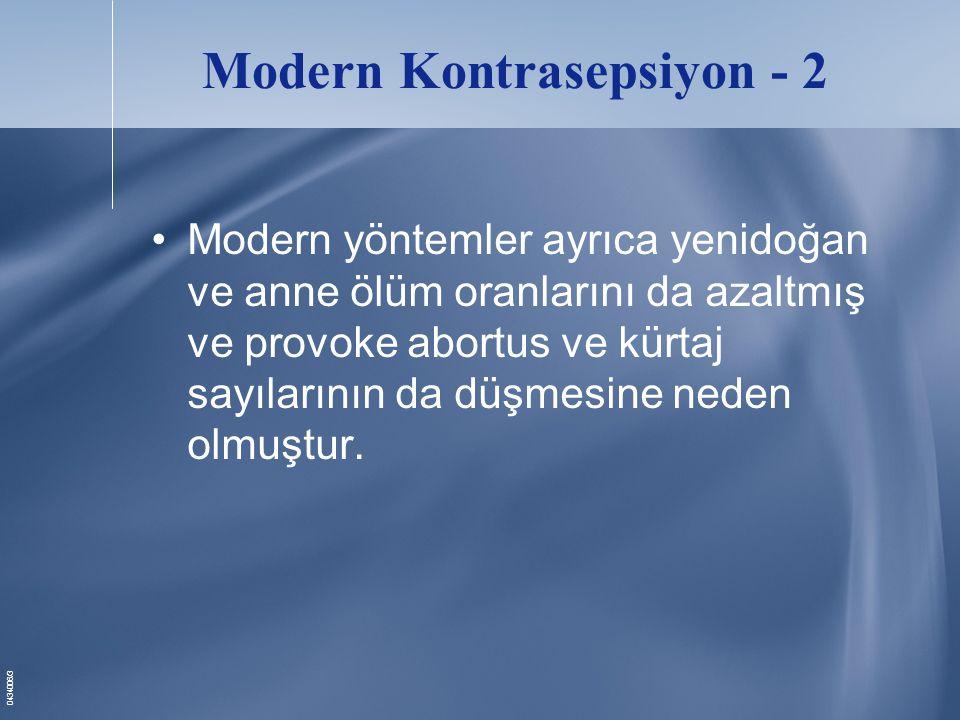 0434006/4 Türkiyedeki Yenilikler •Kullanım süresi uzamış doğum kontrol hapları ( 24/4 ) Yazz ® •Kontraseptif Vaginal Halka Nuva Ring ®