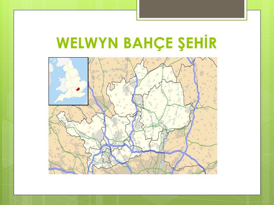  Welwyn bahçe şehri İngiltere'nin doğu bölgesinde, Hertfordshire eyaletinde yer alır.