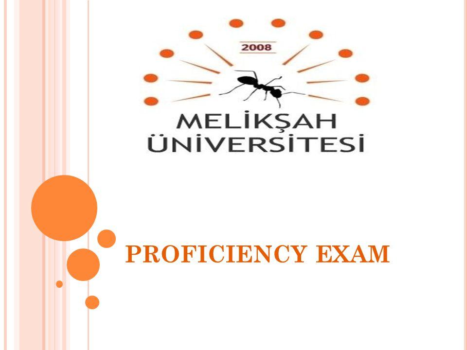 PROFICIENCY EXAM