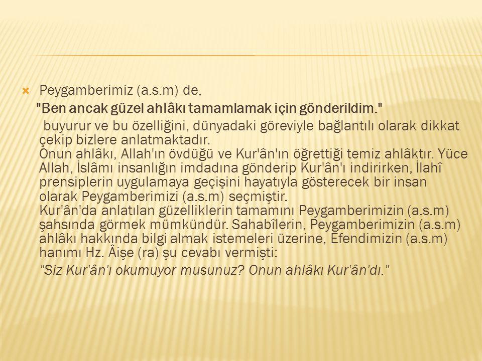  Bir gün Ebû Cehil, Peygamberimize, Ya Muhammed, biz seni yalanlamıyoruz, fakat senin getirdiklerini yalanlıyoruz. demişti.