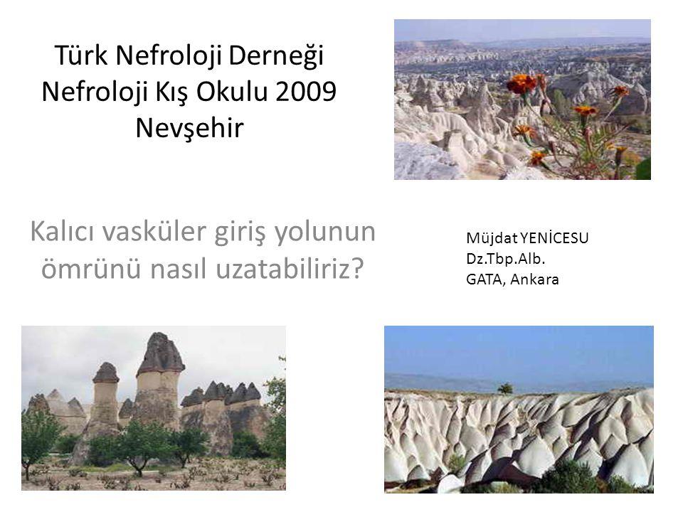 Türk Nefroloji Derneği Nefroloji Kış Okulu 2009 Nevşehir Kalıcı vasküler giriş yolunun ömrünü nasıl uzatabiliriz? Müjdat YENİCESU Dz.Tbp.Alb. GATA, An