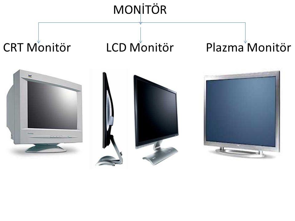MONİTÖR CRT Monitör LCD Monitör Plazma Monitör