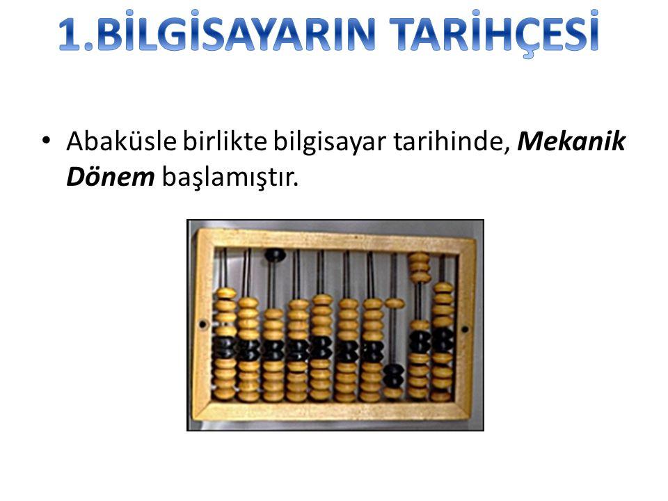 • İngiliz Matematikçisi Charles Babbage 1812 yıllarında fark makinesi üzerinde çalışmaya başladı.