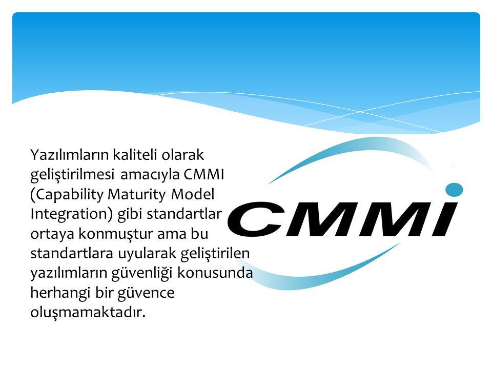Yazılımların kaliteli olarak geliştirilmesi amacıyla CMMI (Capability Maturity Model Integration) gibi standartlar ortaya konmuştur ama bu standartlar