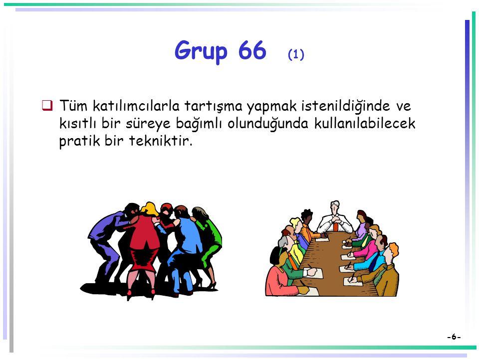 -5- İkili ve Grup Çalışmaları (2)  Gruplardaki kişiler (eşler) değiştirilerek öğrencilerin değişik kişilerle etkileşim içinde olmaları sağlanmalı. 