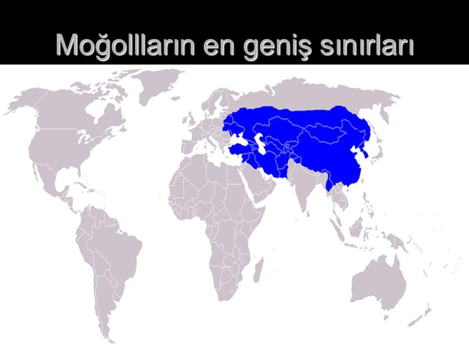 Moğollların en geniş sınırları
