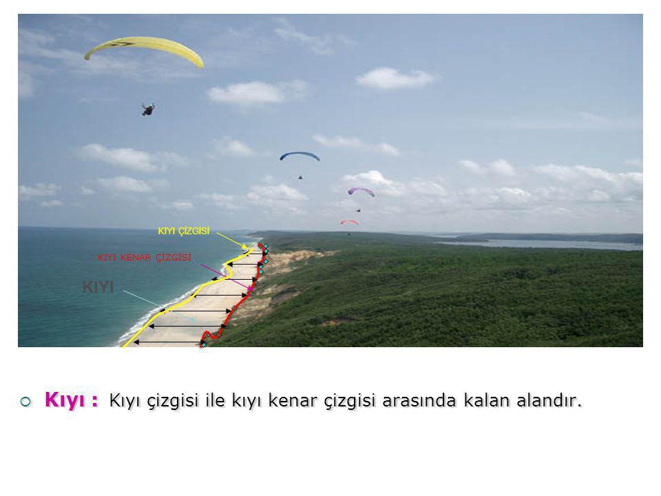 Dar-Yüksek Kıyı: Plaj ya da abrozyon platformu olmayan veya çok dar olan şev veya falezle son bulan kıyılardır.