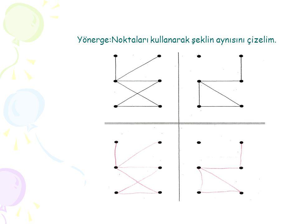 Yönerge:Noktaları kullanarak şeklin aynısını çizelim.