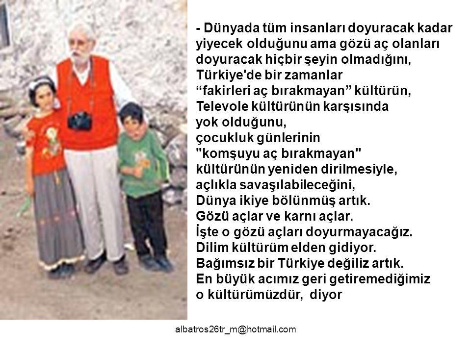 albatros26tr_m@hotmail.com AKŞAM Gazetesi 11.01.2006 Hülya Ünlü nün Hayrettin Karaca ile röportajı...