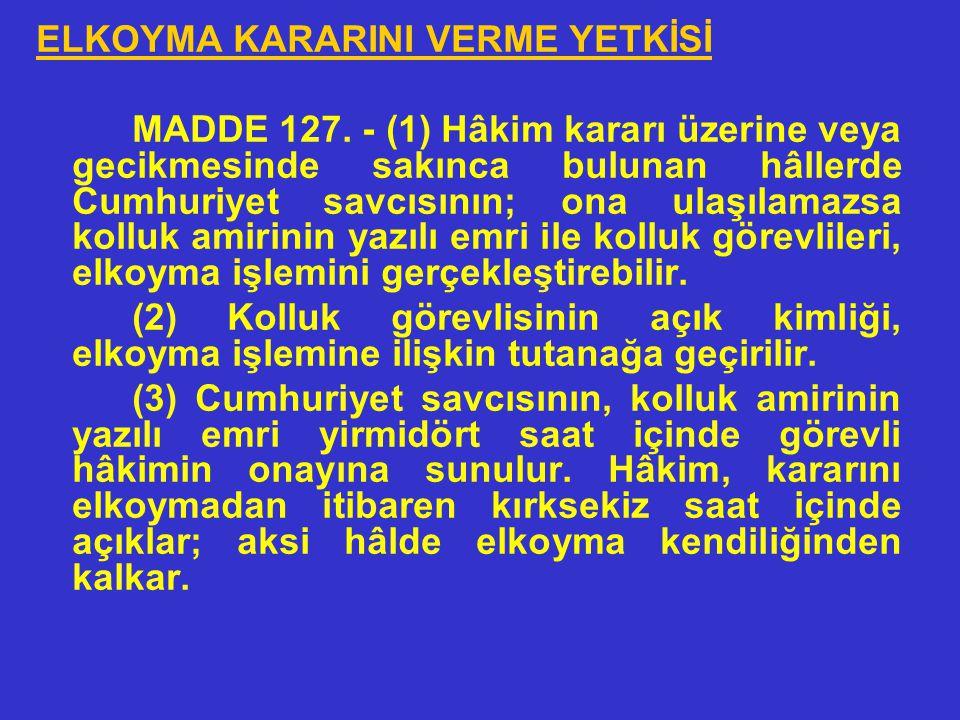 •ELKONULAMAYACAK MEKTUPLAR, BELGELER • MADDE 126. - (1) Şüpheli veya sanık ile 45 ve 46 ncı maddelere göre tanıklıktan çekinebilecek kimseler arasında