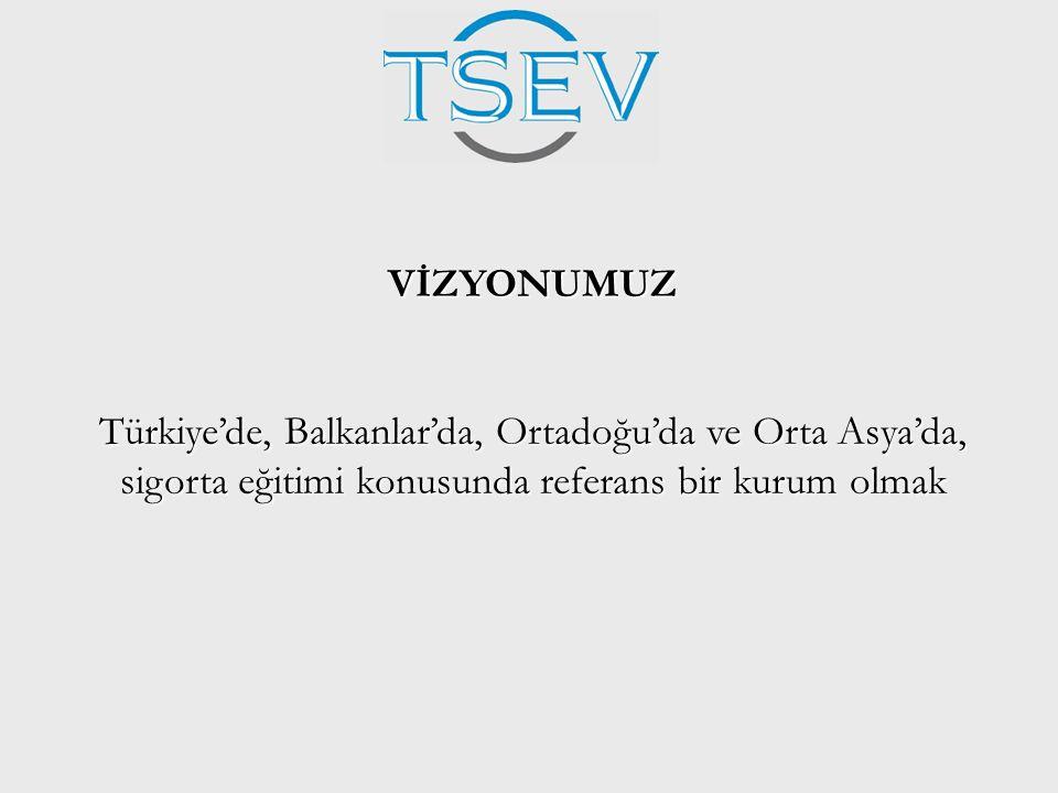 VİZYONUMUZ Türkiye'de, Balkanlar'da, Ortadoğu'da ve Orta Asya'da, sigorta eğitimi konusunda referans bir kurum olmak