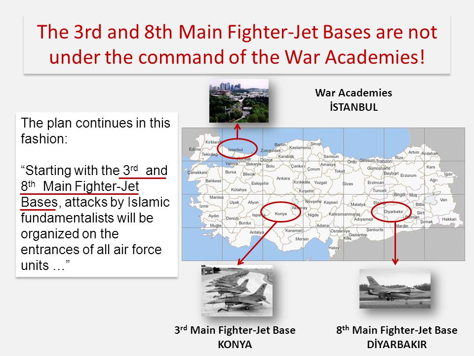 The 3rd and 8th Main Fighter-Jet Bases are not under the command of the War Academies.