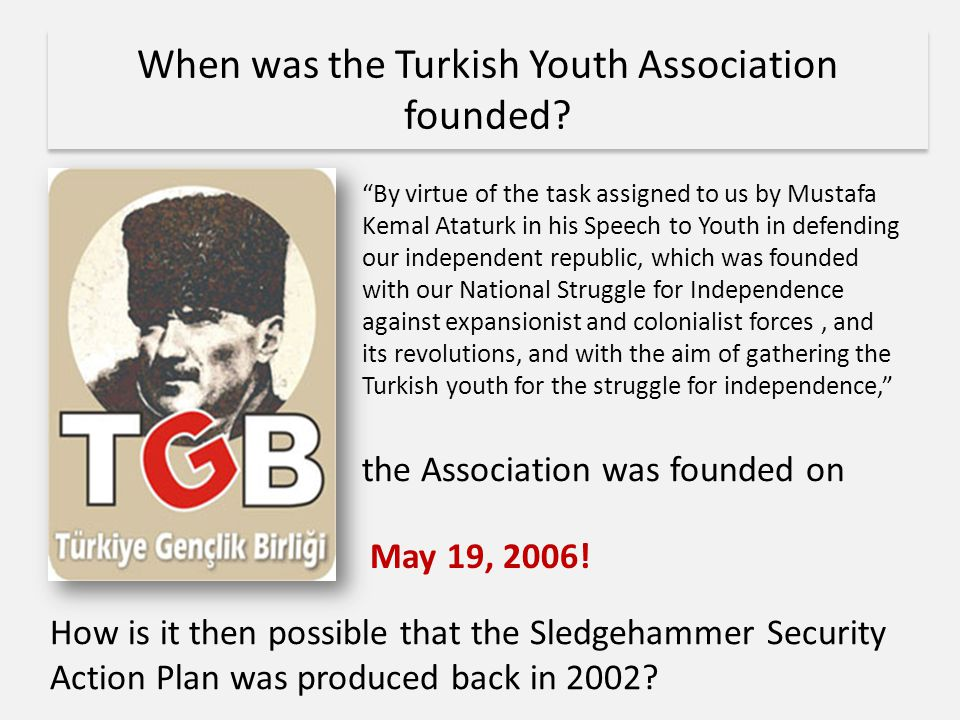 When was the Turkish Youth Association founded.