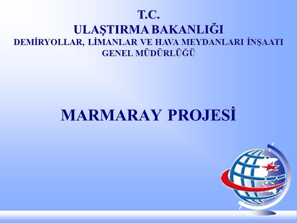 MARMARAY Projesinin Bölümleri Proje 4 bölümden oluşmaktadır: 1.Mühendislik ve Müşavirlik Hizmetleri, 2.Demiryolu Boğaz Tüp Geçişi: Tüneller ve İstasyonlar (BC1), 3.Gebze-Haydarpaşa, Sirkeci-Halkalı Banliyö Hatlarının İyileştirilmesi: İnşaat, Elektrik ve Mekanik Sistemler (CR1), 4.Yeni Araçların Temini (CR2).