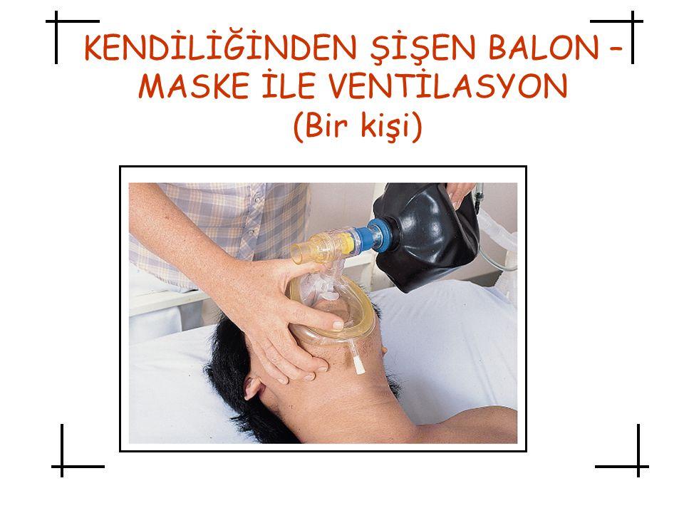 KENDİLİĞİNDEN ŞİŞEN BALON – MASKE İLE VENTİLASYON (Bir kişi)