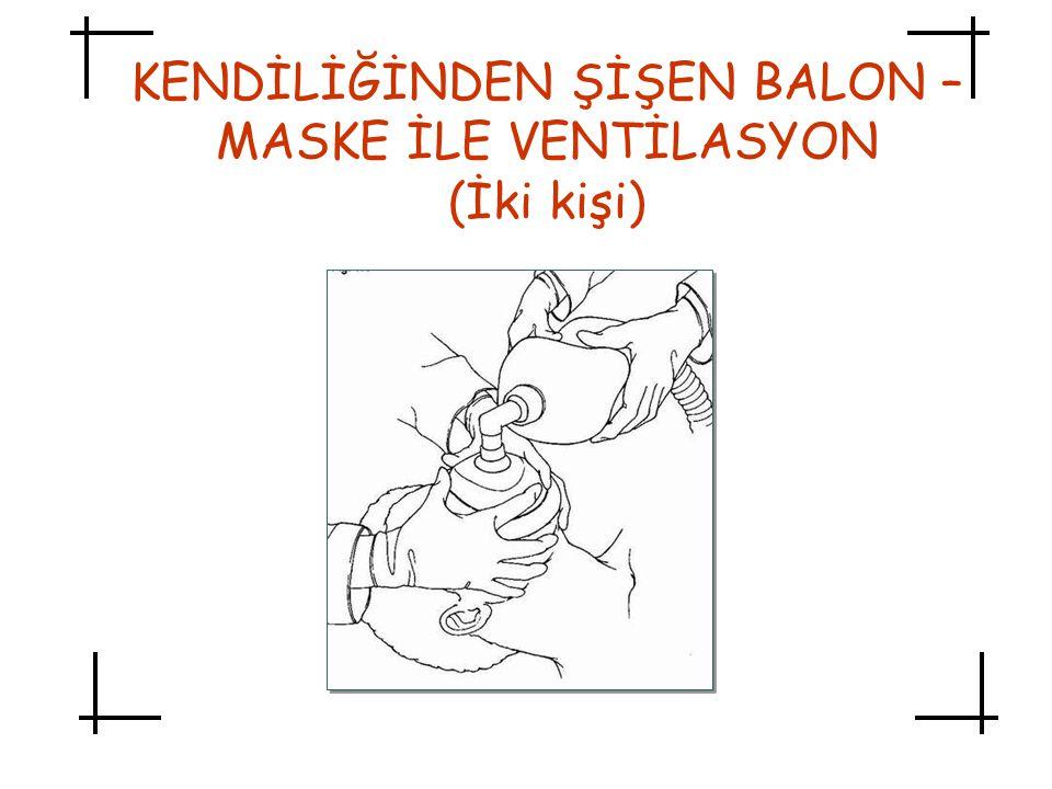 KENDİLİĞİNDEN ŞİŞEN BALON – MASKE İLE VENTİLASYON (İki kişi)
