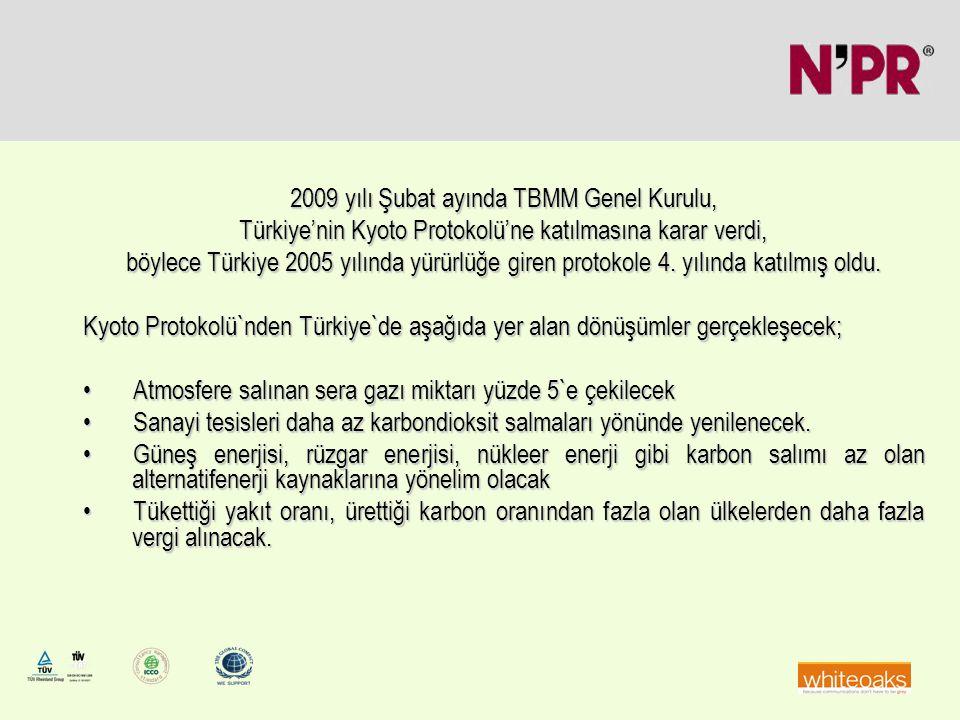 2009 yılı Şubat ayında TBMM Genel Kurulu, Türkiye'nin Kyoto Protokolü'ne katılmasına karar verdi, böylece Türkiye 2005 yılında yürürlüğe giren protoko