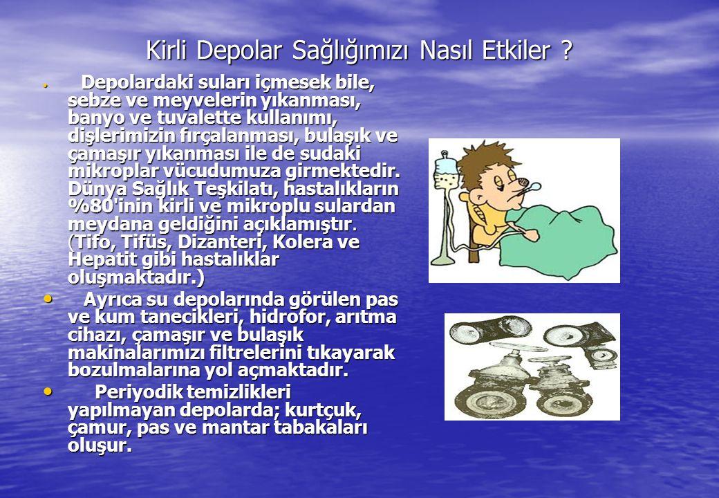 Kirli Depolar Sağlığımızı Nasıl Etkiler ? Kirli Depolar Sağlığımızı Nasıl Etkiler ? • Depolardaki suları içmesek bile, sebze ve meyvelerin yıkanması,