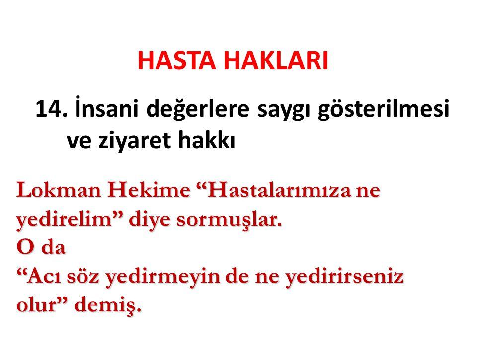 HASTA HAKLARI 14.