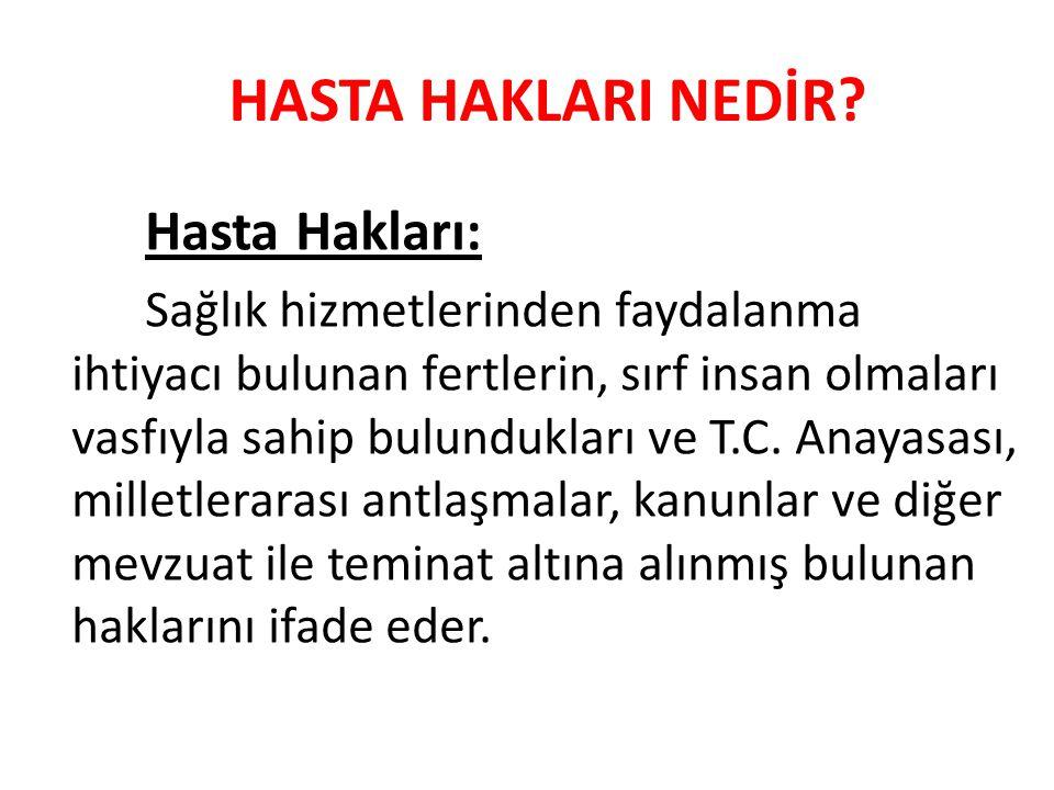 HASTA HAKLARI NEDİR.