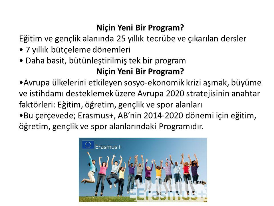 Niçin Yeni Bir Program? Eğitim ve gençlik alanında 25 yıllık tecrübe ve çıkarılan dersler • 7 yıllık bütçeleme dönemleri • Daha basit, bütünleştirilmi