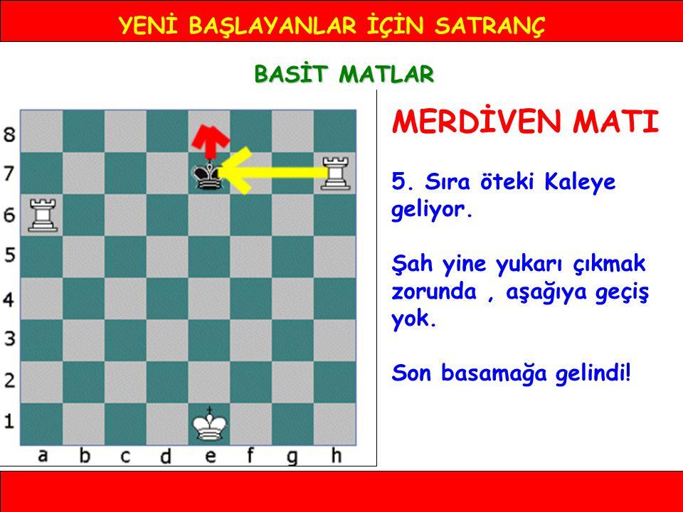 YENİ BAŞLAYANLAR İÇİN SATRANÇ BASİT MATLAR MERDİVEN MATI 5.