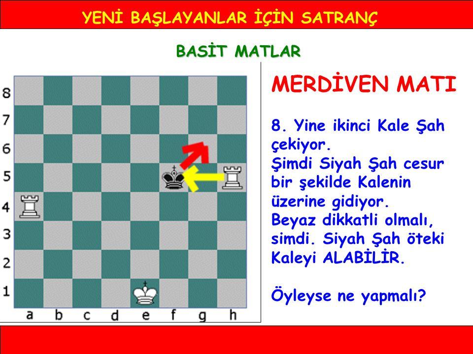 YENİ BAŞLAYANLAR İÇİN SATRANÇ BASİT MATLAR MERDİVEN MATI 8.