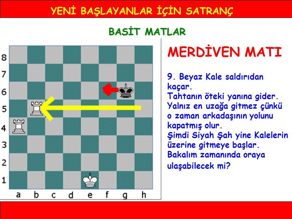 YENİ BAŞLAYANLAR İÇİN SATRANÇ BASİT MATLAR MERDİVEN MATI 9.