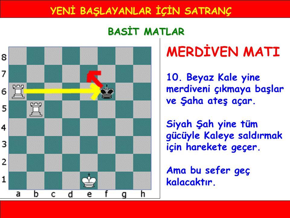 YENİ BAŞLAYANLAR İÇİN SATRANÇ BASİT MATLAR MERDİVEN MATI 10.