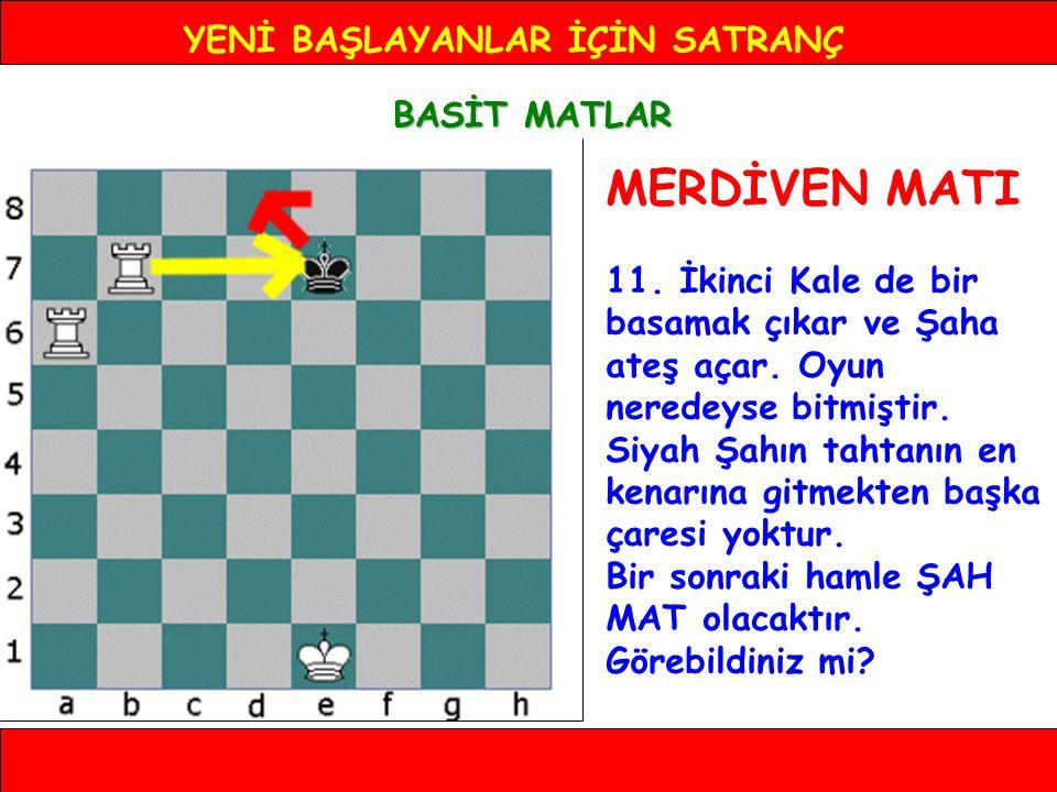 YENİ BAŞLAYANLAR İÇİN SATRANÇ BASİT MATLAR MERDİVEN MATI 11.