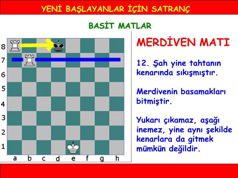 YENİ BAŞLAYANLAR İÇİN SATRANÇ BASİT MATLAR MERDİVEN MATI 12.