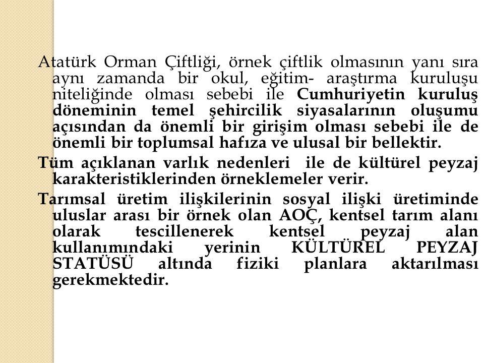 Atatürk Orman Çiftliği, örnek çiftlik olmasının yanı sıra aynı zamanda bir okul, eğitim- araştırma kuruluşu niteliğinde olması sebebi ile Cumhuriyetin