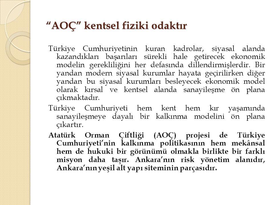 """""""AOÇ"""" kentsel fiziki odaktır Türkiye Cumhuriyetinin kuran kadrolar, siyasal alanda kazandıkları başarıları sürekli hale getirecek ekonomik modelin ger"""