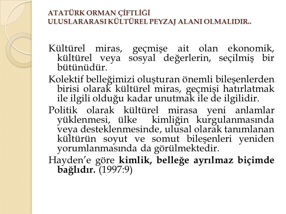 Ankara'nın önemli belleklerinden bir olan Atatürk Orman Çiftliği 1990 lı yıllardan itibaren 1992'de tarihi, kültürel ve doğal değerleri sebebiyle korumaya alındı ve 1998'de 1.