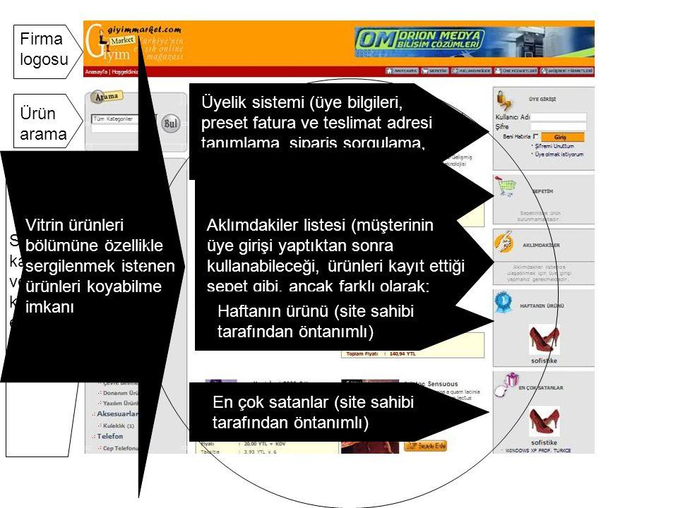 Ürün – marka sistemi Ürün bilgilerinde, ürün uzun açıklaması İstenilen markaya göre arama yapılabilir Ürünün kısa açıklaması, ve fiyat bilgileri