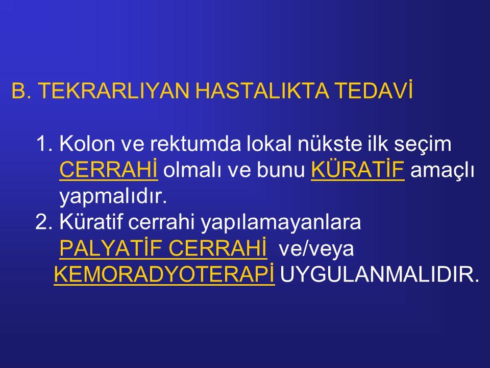 B.TEKRARLIYAN HASTALIKTA TEDAVİ 1.