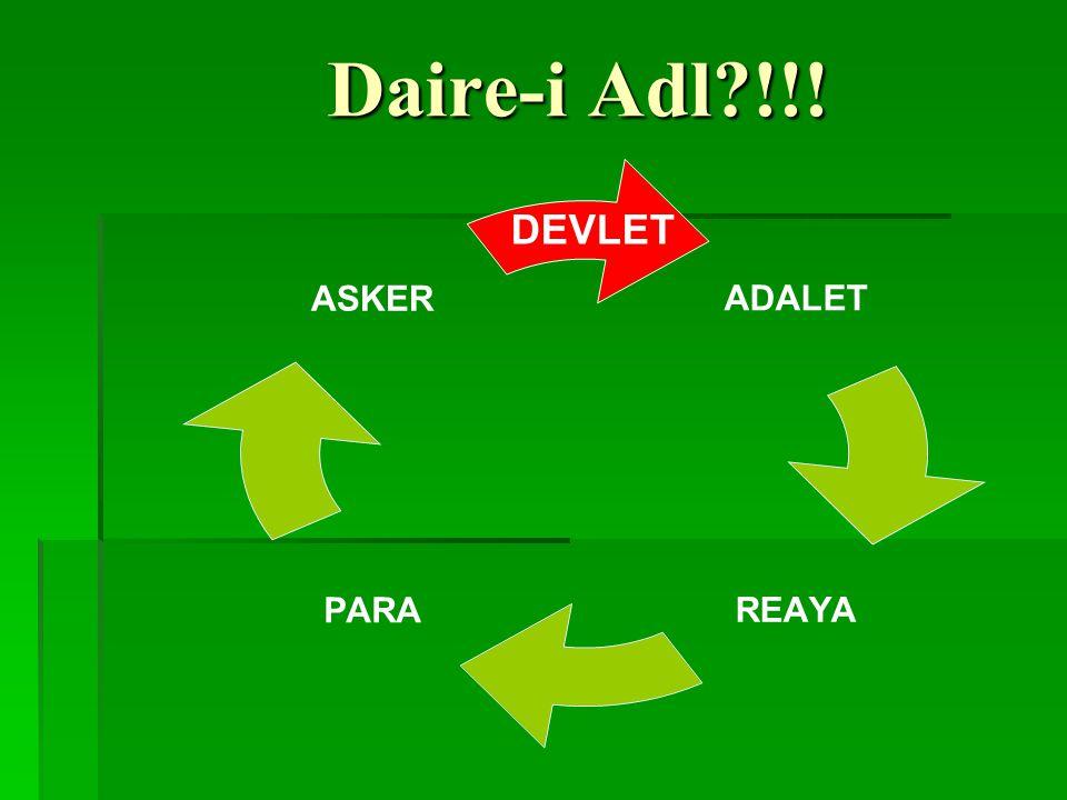 Daire-i Adl?!!! ADALET REAYAPARA ASKER DEVLET