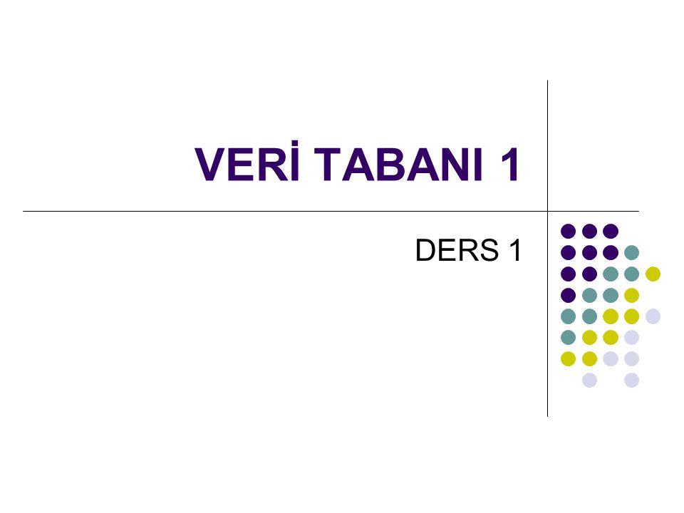 Genel Kavramlar  Veri (Data): Daha küçük parçalara bölünemeyen, tek başına bir anlam ifade etmeyip bir başlık altında toplanınca anlam ifade bilgi parçacıkları.