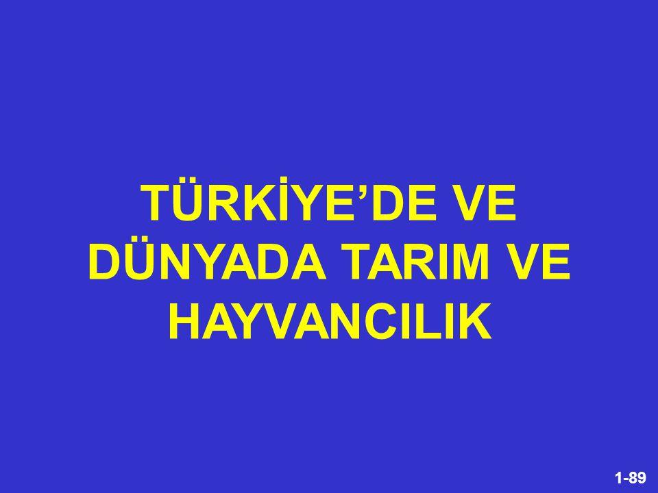 82-89 Türkiye artık kendi kendini besleyebilen bir ülke değildir. SONUÇ