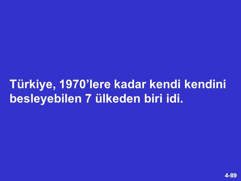4-89 Türkiye, 1970'lere kadar kendi kendini besleyebilen 7 ülkeden biri idi.